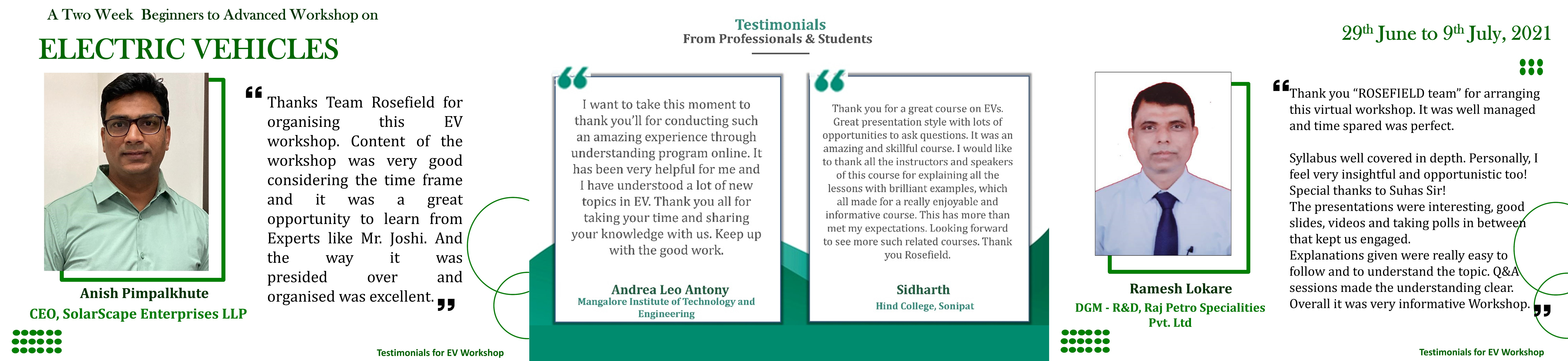 Testimonials for Workshop